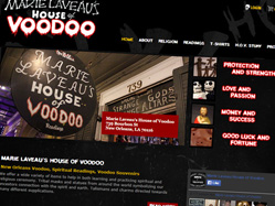 Voodoo New Orleans website design vektor media